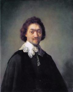 Retrato realizado por Rembrandt a Maurits Huygens