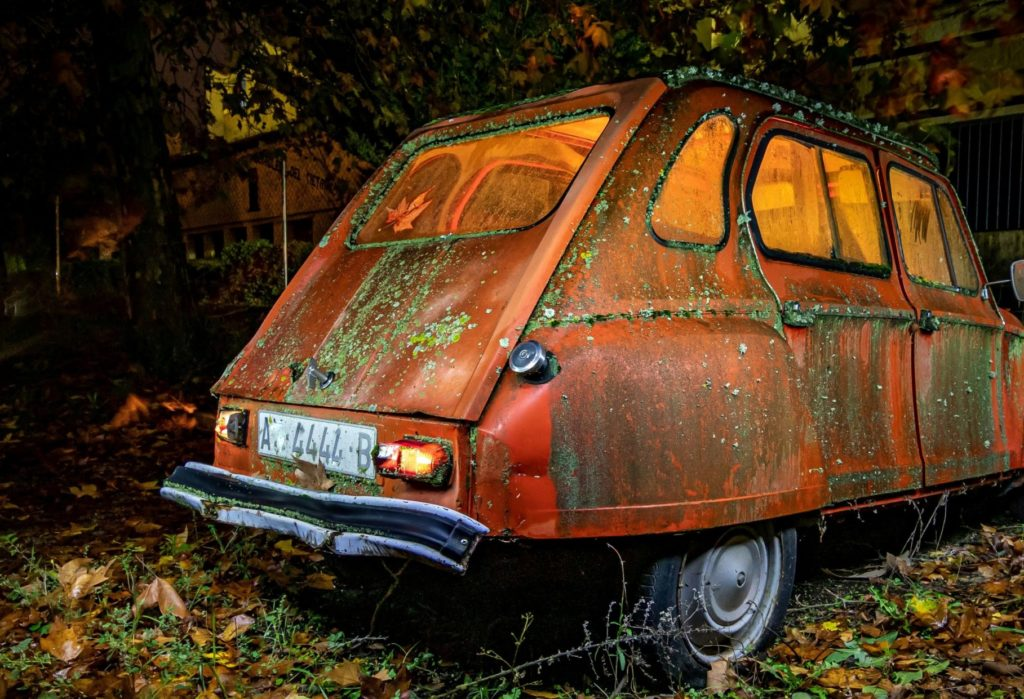 dest fotografia nocturna coche citroen dmd fotografia