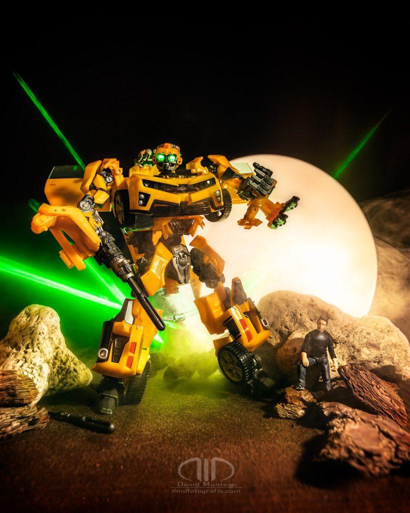 Dest Transformers Bumblebee - Lightpainting DMD Fotografía