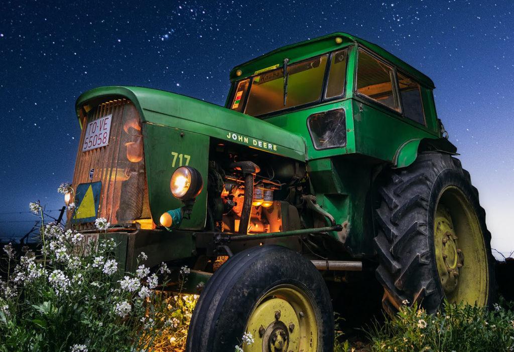 Dest tractor verde y orion estrellas david montero